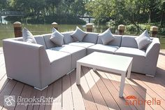 Brooks Rattan Garden Furniture introduces you to the brand new Sunbrella Fabric Furniture consisting of new and unique, indoor and outdoor furniture. Outdoor Sectional, Sectional Sofa, Corner Sofa Set, Outdoor Furniture Sets, Outdoor Decor, Free Delivery, Venice, London, Garden