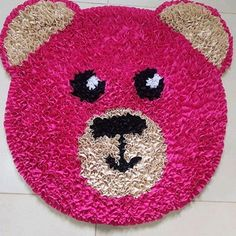 Tapete Urso Frufru Antiderrapante Rope Rug, Pom Pom Rug, Shaggy Rug, Pantry Design, Quilling Art, Easy Crafts For Kids, Yarn Projects, Flower Decorations, Craft Gifts