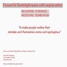 SW to make people realize their mistakes. Healing Codes, Soul Healing, Sanskrit Mantra, Switch Words, Reiki Symbols, Angel Numbers, Special Words, Magic Words, Reformation