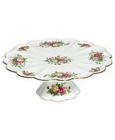 Royal Albert Serveware, Old Country Roses Cake Stand - Fine China - Dining & Entertaining - Macy's