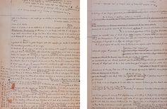 Borrador manuscrito de El Aleph, de Jorge Luis Borges. Biblioteca Nacional, Madrid.