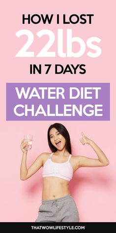 How I Lost In 7 Days With A Water Diet Challenge. lose weight fast in a week with water diet fasting and challenge, how to start a water fasting for beginners, burn fat and belly fat with water fasting diet for extreme weight loss Diets Plans To Lose Weight, Weight Loss Meals, Yoga For Weight Loss, Fast Weight Loss, Weight Loss Program, How To Lose Weight Fast, Losing Weight, How To Burn Fat, Extreme Weight Loss