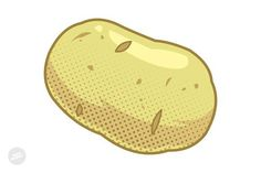 Potato Cartoon Vector ( Formats included AI, High Resolution JPEG) Please contact me if you need any other file format. Garden Markers, Vector Format, Potatoes, Cartoon, Design, Engineer Cartoon, Potato, Cartoons