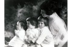 Rose Kennedy with the oldest 3 Kennedy children, Joe Jr., Rosemary & Jack.