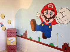 Super Mario Party / Wall painting of Super Mario