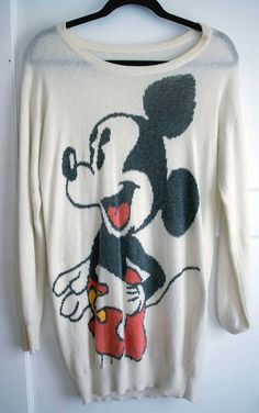 Mickey Mouse Knitted Sweater Dress by AshleyValentineSmith on Etsy, $22.00