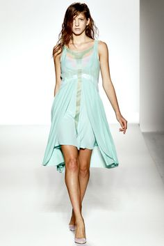 Sportmax S2012    mint green dress with a highly localized rain storm