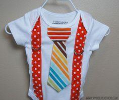 Tie and suspenders boy onesie Cute Little Baby, Little Babies, Baby Love, Baby Kids, Handmade Baby Clothes, Diy Clothes, Boy Onesie, Baby Crafts, Baby Sewing