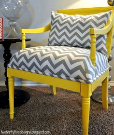 Two Thirty-Five Designs: Master Chair Redo LOVE! Ams, this project has our names written all over it! Craigslist and JoAnne Fabrics, here we come!!! ;)