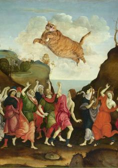 What Happens When Classic Works of Art Collide With Photoshop and a Chubby Orange Kitty? (PHOTOS) What Happens When Classic Works of Art Collide With Photoshop and a Chubby Orange Kitty? (PHOTOS) Cat is Zarathustra Fat Cats, Cats And Kittens, Kitty Cats, White Kittens, Photos Originales, Illustration Art, Illustrations, Ginger Cats, Funny Art