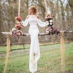 Wonderful Perfect Wedding Dress For The Bride Ideas. Ineffable Perfect Wedding Dress For The Bride Ideas. Long Wedding Dresses, Boho Wedding Dress, Mermaid Wedding, Wedding Gowns, Lace Wedding, Prom Dresses, Elegant Wedding, Wedding Frocks, Trendy Wedding