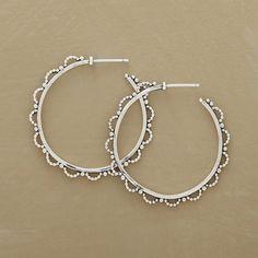 Lacy beaded hoop earrings