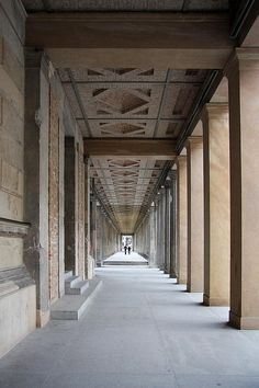 Colonnade Neues Museum Berlin Photograph - Colonnade Neues Museum Berlin Fine Art Print - Christiane Schulze
