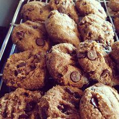 Organic Pumpkin Chocolate Cookies Gluten free, vegan, no processed sugar.