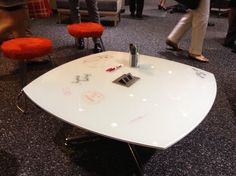 Love the collaborative writing spaces/furniture. Arcadia in the house! #NeoConography
