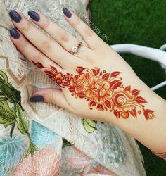 Pretty Henna Designs, Back Hand Mehndi Designs, Stylish Mehndi Designs, Mehndi Designs For Girls, Unique Mehndi Designs, Dulhan Mehndi Designs, Latest Mehndi Designs, Simple Mehndi Designs, Mehendi