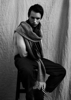 Exhibit M: Wearing a giant scarf, hot. | Is Eddie Redmayne Hot?