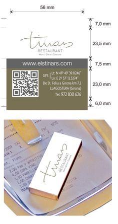 Propuesta diseño cajas de cerillas para el Restaurant Els Tinars en Llagostera (Girona). Cards Against Humanity, Restaurant, Match Boxes, Proposals, Diner Restaurant, Restaurants, Dining