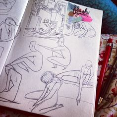 .@Sophie | Sketching in bed on this nice cold morning :) Spilt some tea on my bed too. I...