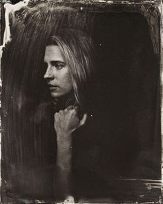 Brit Marling poses for a tintype (wet collodion) portrait at The Collective and Gibson Lounge Powered by CEG
