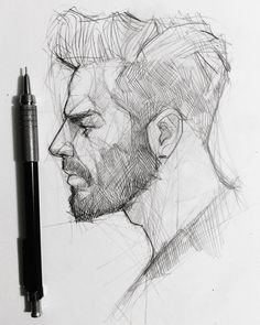 ✍️ tag your bearded friend! #graphgear500 #graphite #pentel #graphite #mechanicalpencil #sketching
