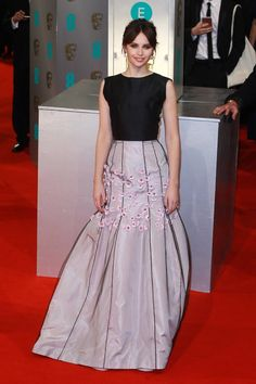 Pin for Later: The Biggest Trend at the BAFTA Awards Was as Clear as Black and White Felicity Jones in Christian Dior Haute Couture