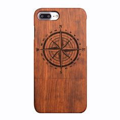 NAMEO iPhone 7 Plus Wood Case, Natural Carved Wooden Hard Case Cover for Apple iPhone 7 Plus 2016 Released (Compass). Specially designed for Apple iPhone 7 Plus Only 2016 Released. 100% Handmade of Real Natural Wood: Unique natural wood grain and fine finish. Precise openings on the protector case to allow access to all controls and features on the phone. Professional connection technology, clever two wood case together, highlighting the precise workmanship.