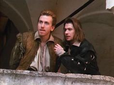 Tim Roth & Gary Oldman, in the odd and wonderful Rosencrantz & Gildenstern are Dad.