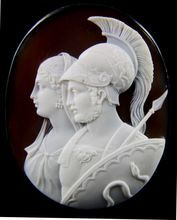 XLarge Victorian Cameo of Perseus and Andromeda