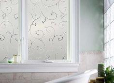 Turn glass into art with decorative (non-adhesive) window film.
