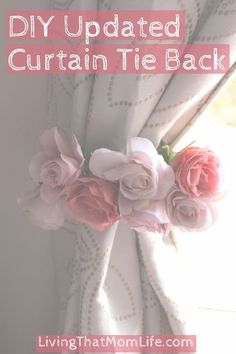 Curtain Tie Back // Baby Girl Nursery // Floral Decor // Roses // DIY…