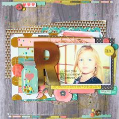 #papercraft #scrapbook #layout. Missy #scrapbook #layout for MME #gold #metallic