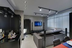 Open Plan Kitchen Living Room, Living Room Modern, Condo Interior, Interior Design Living Room, Lofts, Home Decor Bedroom, Living Room Decor, Living Rooms, House Lamp