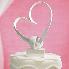 Heart Cake Topper -  from the Valentine's Day Wedding Lookbook #wedding #valentinesday #romantic #lookbook #decor #cake #heart #caketopper