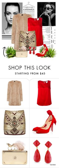 """""""Untitled #37"""" by zina1002 ❤ liked on Polyvore featuring Trowbridge, Oasis, Chanel, Alice + Olivia, Christian Louboutin, Alexander McQueen, Miadora, women's clothing, women and female"""