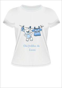 Camiseta Chá de bebê Menino | Nova Ideia Personalização | Elo7