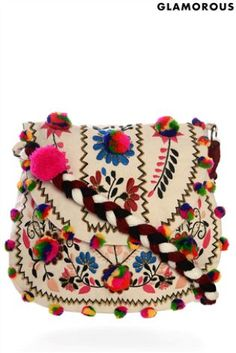 Embroidered Folk Cross Body Bag from Next.