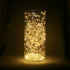 A easy holiday decoration!!! lights in a vase | Inspiration ...