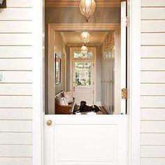 Dutch Door, Country, home exterior, Jones Pierce Architects