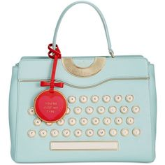 kate spade new york Be Mine Typewriter Satchel (1,005 BAM) ❤ liked on Polyvore featuring bags, handbags, multi, kate spade, snap closure purse, satchel purses, satchel bag and snap bag