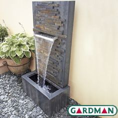 Slate Falls Water Feature with Lights by Gardman