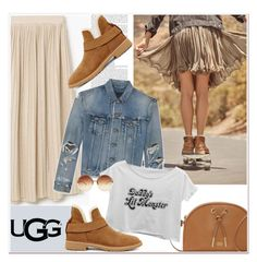 """""""The New Classics With UGG: Contest Entry"""" by paculi ❤ liked on Polyvore featuring UGG, MANGO, Yves Saint Laurent, Vince Camuto, Linda Farrow and ugg"""