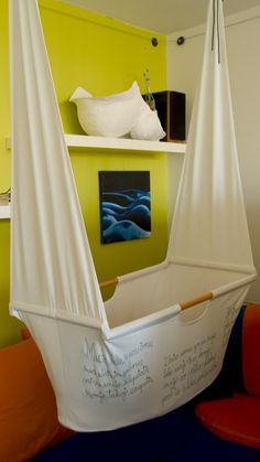 Hanging Cradle DIY Fabric Sewing Pattern. $9.95, via Etsy.