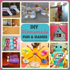 A collection of easy DIY Homemade Fun & Games - Mummy Musings and Mayhem