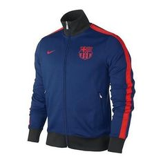 NIKE FC BARCELONA AUTHENTIC N98 TRACK JACKET 2012/13 BLUE/RED.
