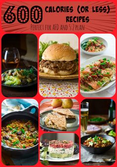 These are all under 600 calories and are perfect for the Alternate Fasting Day (AFD) or diet plans. Source by tobethode 700 Calorie Meals, 600 Calorie Dinner, No Calorie Foods, Low Calorie Recipes, Diet Recipes, Healthy Recipes, Healthy Dinners, Clean9, Clean Eating