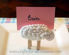 Lamb place card holder