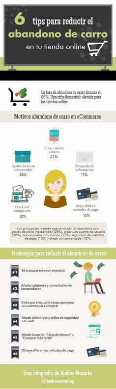 6 tips para reducir el abandono de carro #infografia @andresmacariog | TICs y Formación