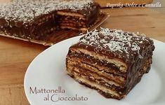 La Mattonella al cioccolato, preparata con i biscotti secchi, e abbondante crema al cioccolato, è un dolce delizioso per grandi e piccini!!!