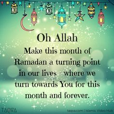 Oh #Allah, make this month of #Ramadan a turning point in our lives- where we…
